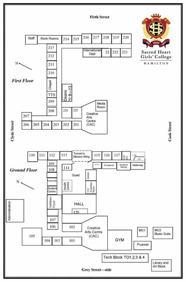 Map of Sacred Heart Girls' College