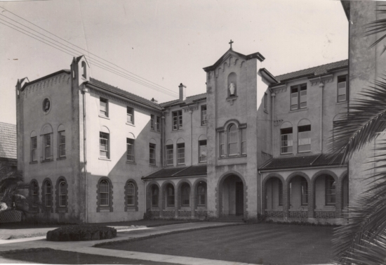St Mary's Convent and Euphrasie House (Boarders hostel). From the RNDM Archives, Petone.